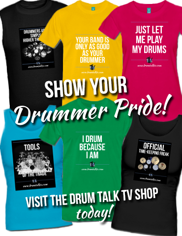 Get your Drummer Pride shirts at the Drum Talk TV Store
