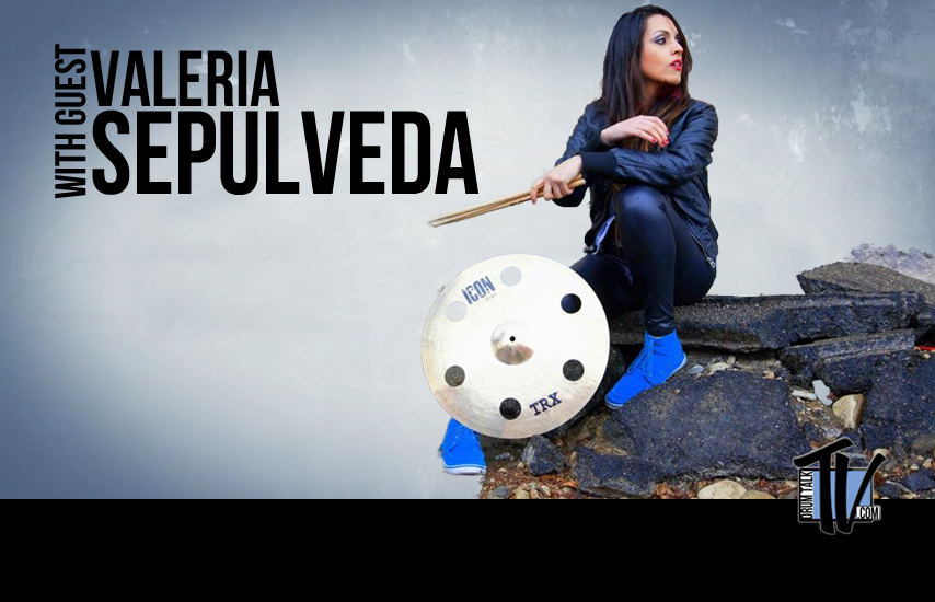 "Val Sepulveda ""Hit Like A Girl"" winner on Drum Talk TV"