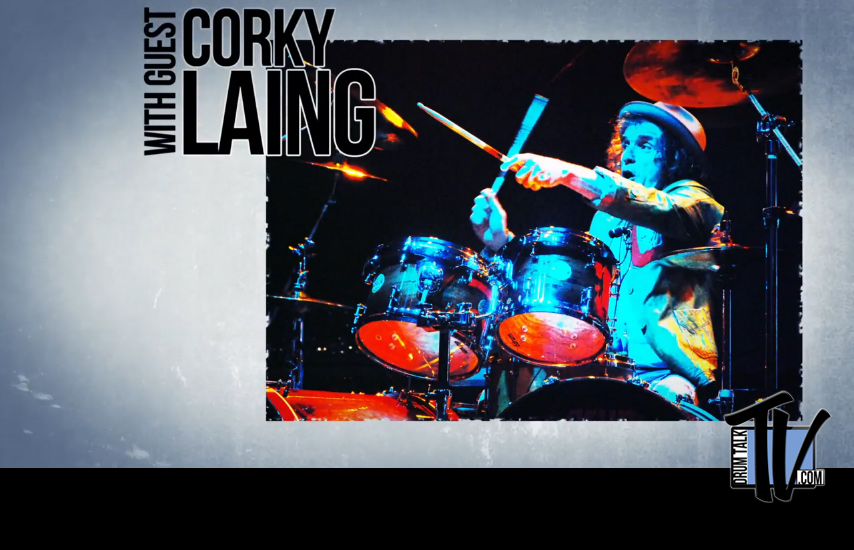 Drum Talk TV Interview with Corky Laing