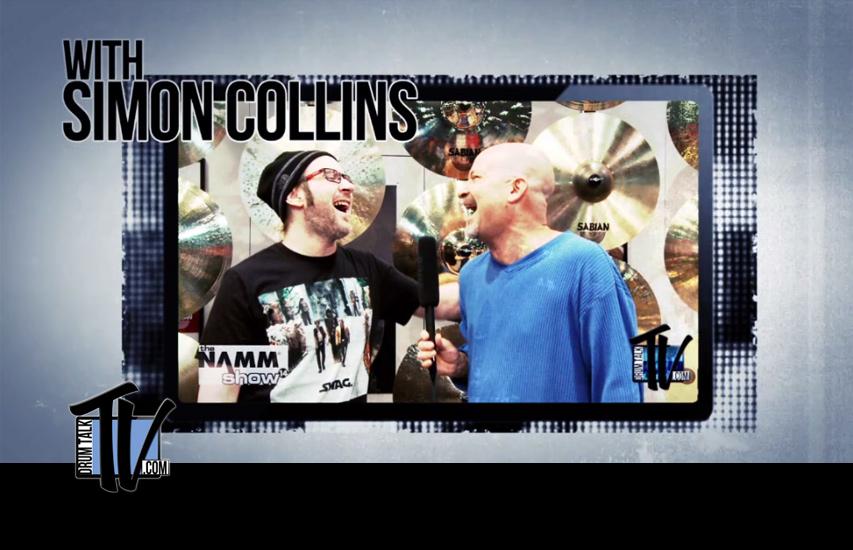 Simon Collins on Drum Talk TV