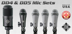 Telefunken DD4 & DD5 Mic Sets for Drums
