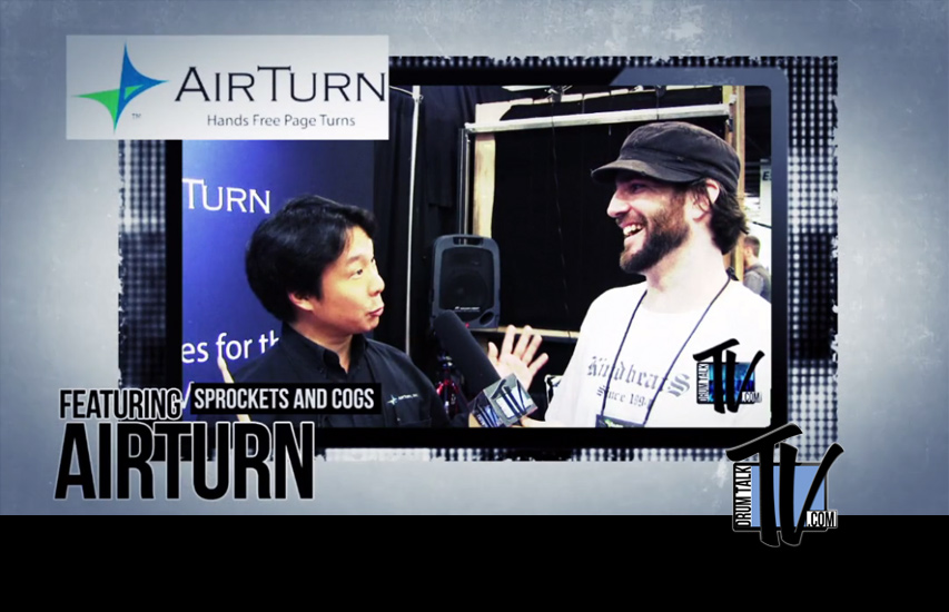 AirTurn's Hands-free-page-turner App, AirTap on Drum Talk TV
