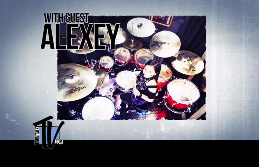 Alexey Drummer 10-yr-old Prodigy on Drum Talk TV
