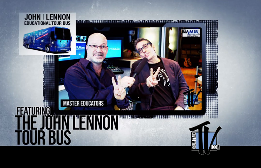 John Lennon Tour Bus on Drum Talk TV