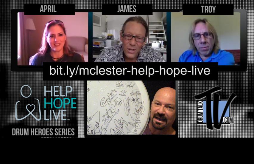James McLester Help Hope Live on Drum Talk TV