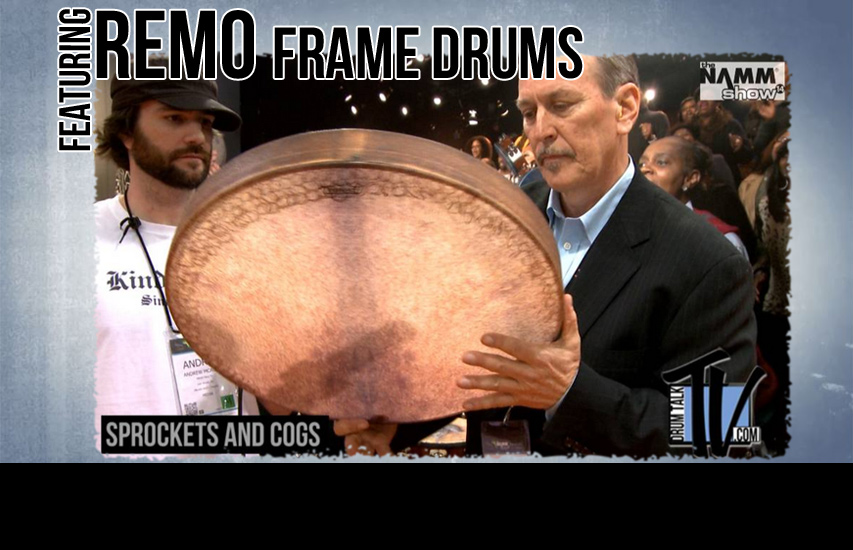 Remo Frame Drums at NAMM14 on Drum Talk TV