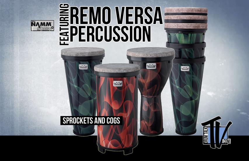 Remo Versa Percussion at NAMM14 on Drum Talk TV