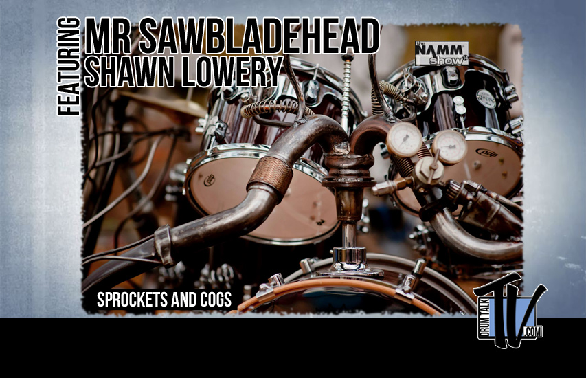 Mr Sawbladehead aka Shawn Lowery on Drum Talk TV