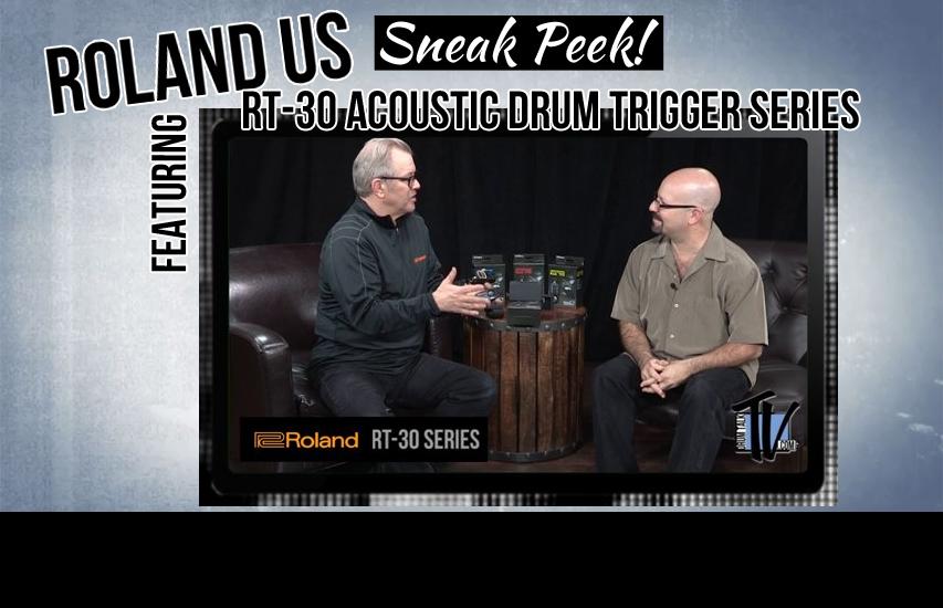 Roland US Sneak-Peek at NAMM15- RT-30 Drum Triggers