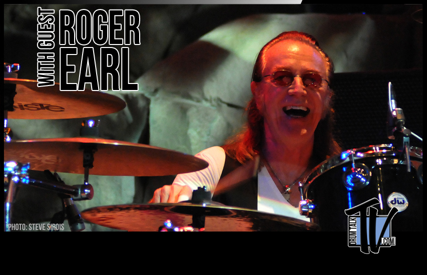 Roger Earl on Drum Talk TV